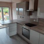 Garage conversion to kitchen in Scunthorpe